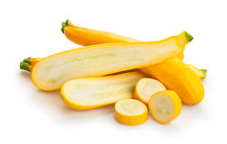 Yellow squash. On white background Royalty Free Stock Photography