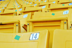 Yellow stadium seat Royalty Free Stock Images