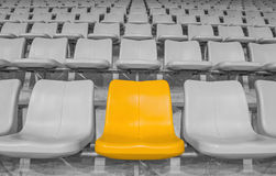 Yellow stadium seat Stock Photos