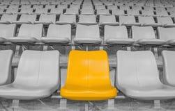 Yellow stadium seat Stock Photos