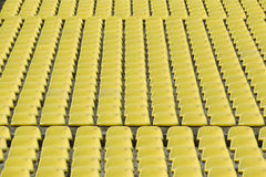 Yellow Stadium Seating Stock Images