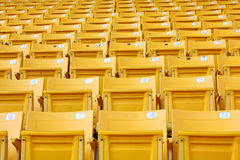 Yellow stadium seats Royalty Free Stock Photography