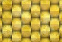 Yellow stain with cubes Royalty Free Stock Image