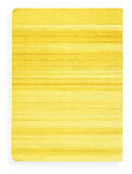 Yellow stained lined paper Stock Images