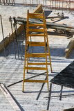 Yellow staircase on the construction site Royalty Free Stock Photography
