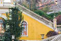 Yellow Staircase in Santiago, Chile Royalty Free Stock Images