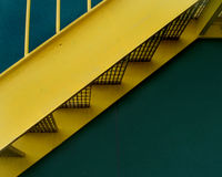 Yellow Stairway Stock Images