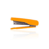 Yellow Stapler isolated for school or office tools on white background Stock Photo