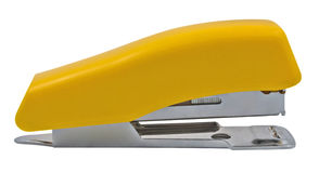 Yellow stapler Royalty Free Stock Images