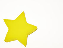 Yellow star. W/white background Royalty Free Stock Images