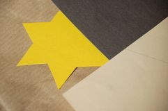 Yellow star Royalty Free Stock Photography