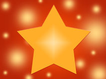 Yellow star. On red background Vector Illustration