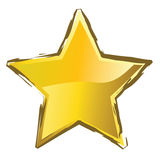 Yellow star Stock Photography