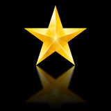 Yellow star on black Royalty Free Stock Photos