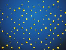 Yellow star on blue background. Modern style Stock Photography