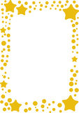 Yellow star frame Stock Image