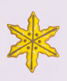 Yellow star gingerbread Royalty Free Stock Images