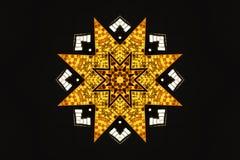 Yellow star illustration. A yellow star illustration on black Stock Photography