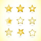 Yellow star logo icon symbol set Royalty Free Stock Photography