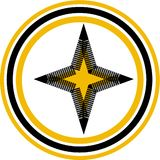 yellow star logo Stock Photo