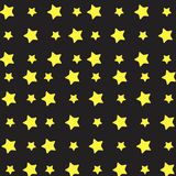 Yellow star pattern Stock Images