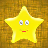 Yellow Star Royalty Free Stock Photo