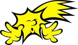 Yellow star (smile set) Royalty Free Stock Photo