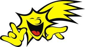 Yellow star (smile set) Stock Photos