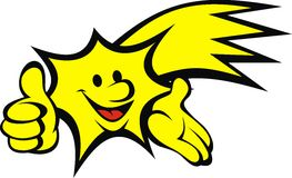 Yellow star (smile set) Stock Images