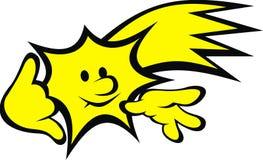 Yellow star (smile set) Stock Photography