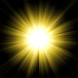 Yellow starburst Royalty Free Stock Photo
