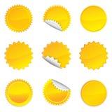 Yellow Starbursts Set,  Illustration Stock Photos