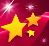 Yellow stars  on background Royalty Free Stock Photo