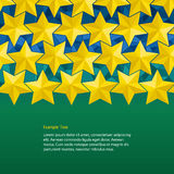 Yellow stars background Stock Images