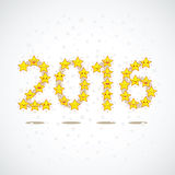 Yellow Stars in the form of numbers 2016 Royalty Free Stock Photos