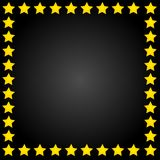 Yellow stars frame Stock Photos
