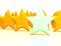 Yellow stars massive on white background Stock Images