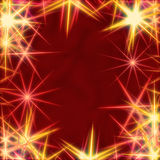 Yellow stars over red background Stock Photo