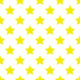 Yellow stars seamless pattern vector illustration.  Stock Photo
