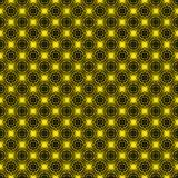 Yellow Stars Seamless Asanoha Texture Background stock illustration