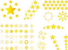Yellow stars Stock Image