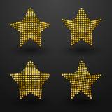 Yellow stars Stock Photography