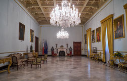 Yellow State Room. Grandmaster`s Palace. Valletta. Malta Royalty Free Stock Images