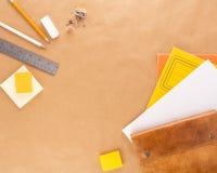 Yellow Stationary 5 royalty free stock photos