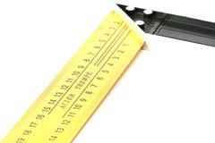 Yellow steel angle tool Stock Images