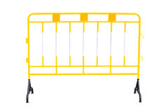 Yellow steel barrier Stock Photo