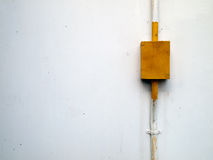 Yellow steel box for electrical work Royalty Free Stock Images