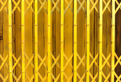 Yellow steel door Royalty Free Stock Images