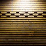 Yellow Steel doors. Night light background Royalty Free Stock Photo