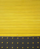 Yellow Steel doors Royalty Free Stock Images